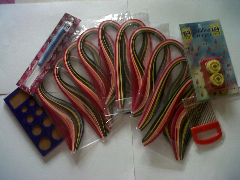 multi 10 colors Quilling Paper assorted ,crimp,Quilling comb, Quill board & tool