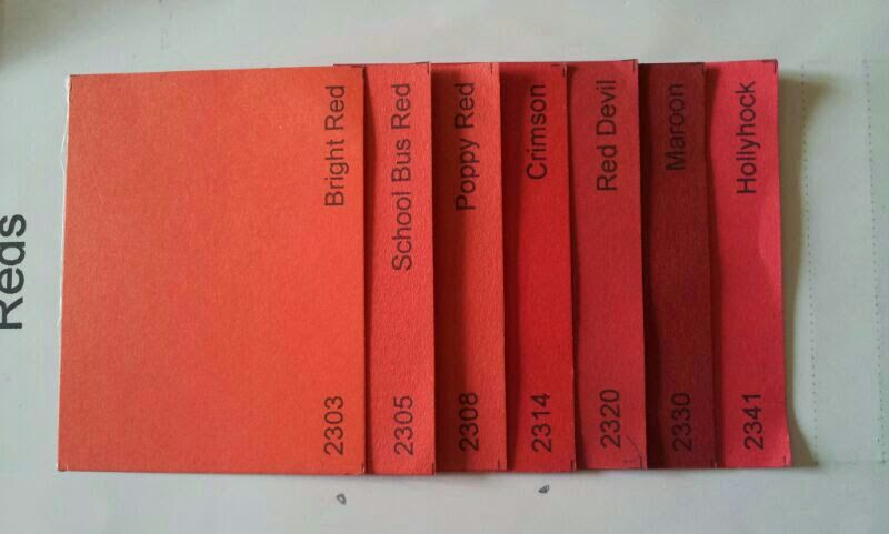 Red Single color shades