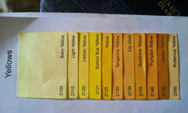 Yellow Single color shades