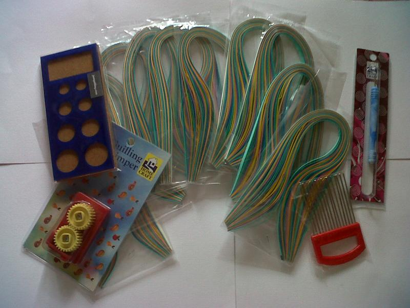 pastel shades Quilling paper ,crimp,quilling comb,quilling board & tool sun